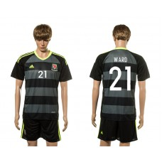 European Cup 2016 Welsh Away 21 Ward soccer jerseys
