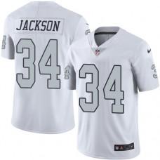 2016 Nike Oakland Raiders 34 Bo Jackson White Mens Stitched NFL Limited Rush Jersey