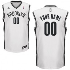 Adidas Brooklyn Nets Youth Custom Replica Home White NBA Jersey