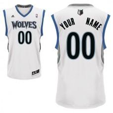 Adidas Minnesota Timberwolves Youth Custom Replica Home White NBA Jersey