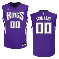 Adidas Sacramento Kings Custom Replica Road Purple NBA Jersey