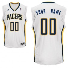 Men Adidas Indiana Pacers Custom Replica Home White NBA Jersey