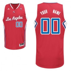 Men Adidas Los Angeles Clippers Custom Swingman Road Red NBA Jersey