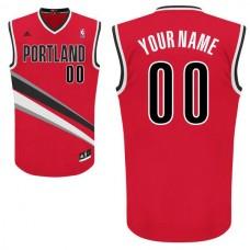 Men Adidas Portland Trail Blazers Custom Replica Alternate Red NBA Jersey