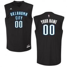 Men Oklahoma City Thunder Adidas Black Custom Chase NBA Jersey