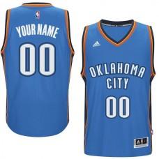 Men Oklahoma City Thunder Adidas Blue Custom Swingman Road NBA Jersey