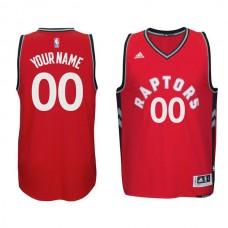 Men Toronto Raptors Adidas Red Custom Swingman NBA Jersey