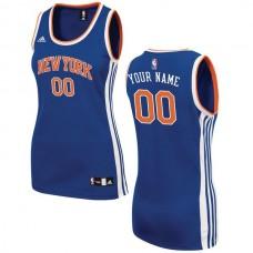Women New York Knicks Adidas Royal Custom 2015 Road Replica NBA Jersey