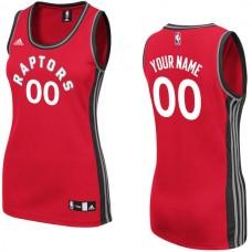 Women Toronto Raptors Adidas Red Custom Replica Home NBA Jersey