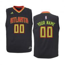 Youth Atlanta Hawks Adidas Black Custom Road NBA Jersey