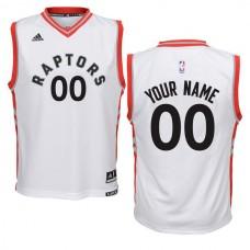 Youth Toronto Raptors Adidas White Custom Replica Home NBA Jersey