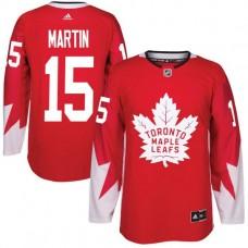 2017 NHL Toronto Maple Leafs Men 15 Matt Martin red jersey