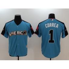 2017 MLB All-Star Houston Astros 1 Correa blue Jerseys