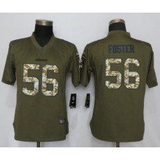 2017 NFL Women New Nike San Francisco 49ers 56 Foster Green Salute To Service Limited Jersey