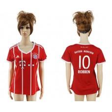 2017-2018 Club Bayern Munich home aaa verion women 10 soccer jersey