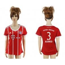 2017-2018 Club Bayern Munich home aaa verion women 3 soccer jersey