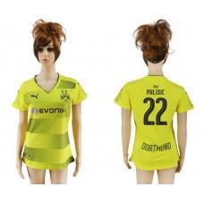 2017-2018 Club Dortmund home aaa verion women 22 soccer jersey