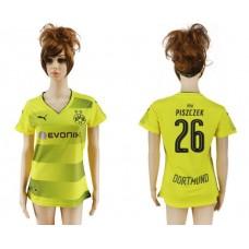 2017-2018 Club Dortmund home aaa verion women 26 soccer jersey