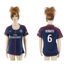 2017-2018 Club Pari St German home aaa verion women 6 soccer jersey