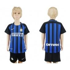 2017-2018 club Inter milan home kids soccer jersey