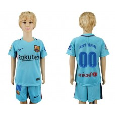 2017-2018 club barcelona aeay kids customized soccer jersey