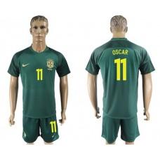 Men 2017-2018 National Brazil away 11 soccer jersey
