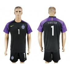 Men 2017-2018 National England black Goalkeeper Soccer Jersey 1 soccer jersey