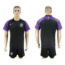 Men 2017-2018 National England black Goalkeeper Soccer Jersey soccer jersey
