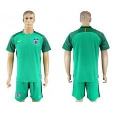 Men 2017-2018 National England green goalkeeper soccer jersey