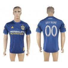 Men 2017-2018 club Los Angeles Galaxy away aaa version customized blue soccer jersey