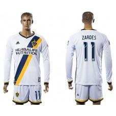 Men 2017-2018 club Los Angeles Galaxy home long sleeve 11 soccer jersey