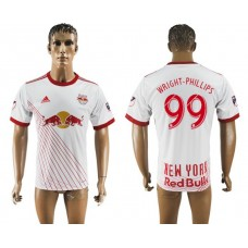 Men 2017-2018 club New York Red Bulls home aaa version 99 white soccer jersey