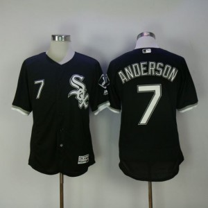Men Chicago White Sox 7 Anderson Black Elite MLB Jerseys