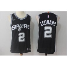 2017 Men San Antonio Spurs 2 Leonard Black Nike NBA Jersey