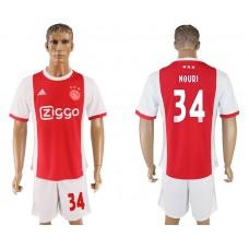 Men 2017-2018 club Ajax home 34 red soccer jersey