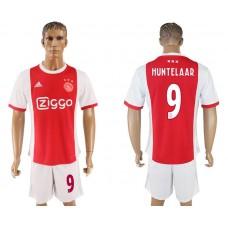 Men 2017-2018 club Ajax home 9 red soccer jersey