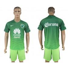Men 2017-2018 club American team second away blank green soccer jersey