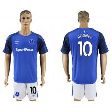 Men 2017-2018 club Everton FC home 10 blue soccer jersey1
