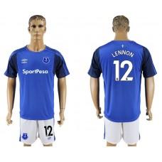 Men 2017-2018 club Everton FC home 12 blue soccer jersey