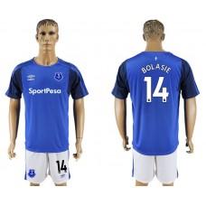 Men 2017-2018 club Everton FC home 14 blue soccer jersey