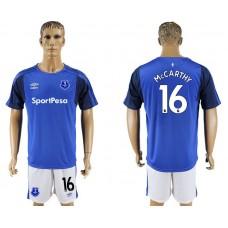 Men 2017-2018 club Everton FC home 16 blue soccer jersey