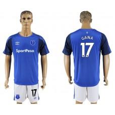 Men 2017-2018 club Everton FC home 17 blue soccer jersey