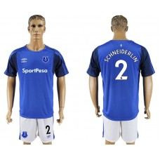 Men 2017-2018 club Everton FC home 2 blue soccer jersey