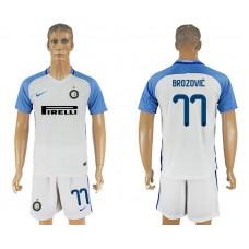 Men 2017-2018 club Inter milan away 77 white soccer jersey