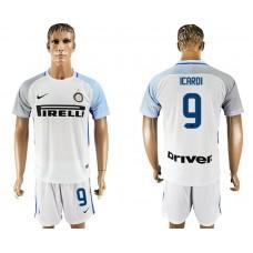 Men 2017-2018 club Inter milan away 9 white soccer jersey1