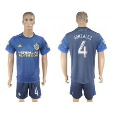 Men 2017-2018 club LA Galaxy away 4 blue soccer jersey