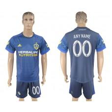 Men 2017-2018 club LA Galaxy away customized blue soccer jersey