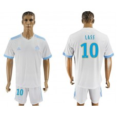 Men 2017-2018 club Marseille home 10 white soccer jersey