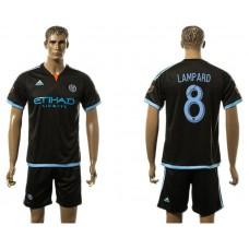 Men 2017-2018 club New York City FC away 8 black soccer jersey