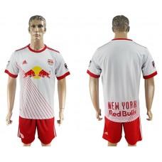 Men 2017-2018 club Red Bulls home blank white soccer jersey
